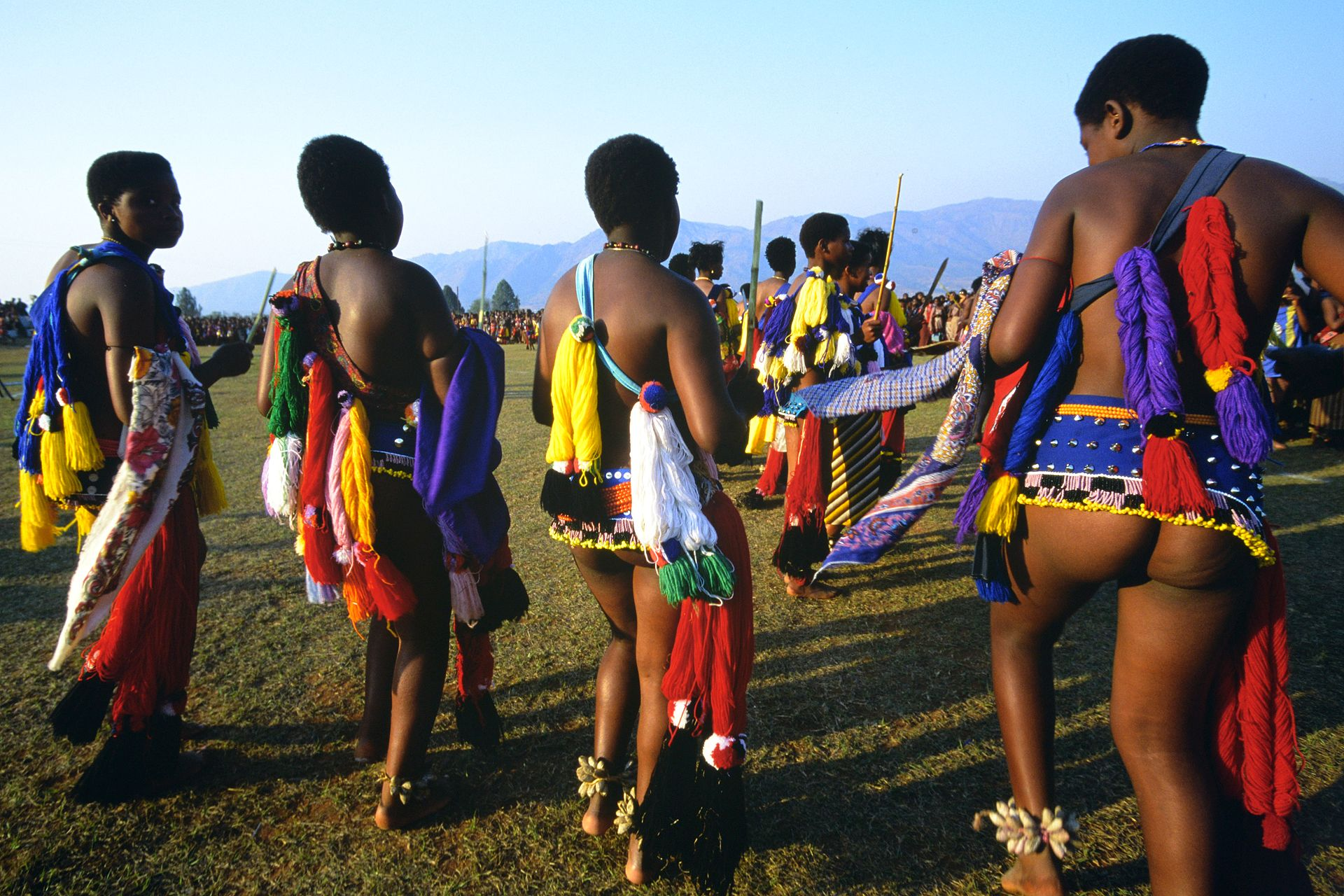Zulu Girls Attend Umhlanga, The Annual Reed Dance Festival -6741