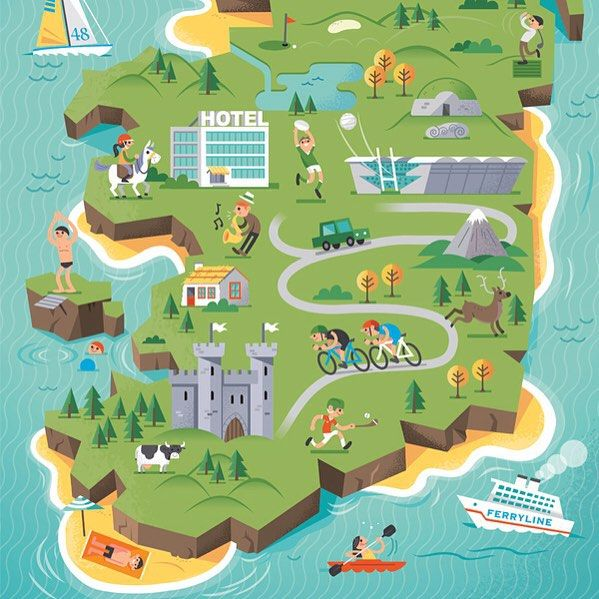 Diarmuid O Cathain - Ireland map