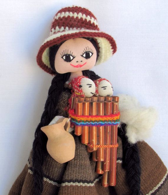 Happy Ecuadorian Doll with Twins - Mouth Harp - Terra ...