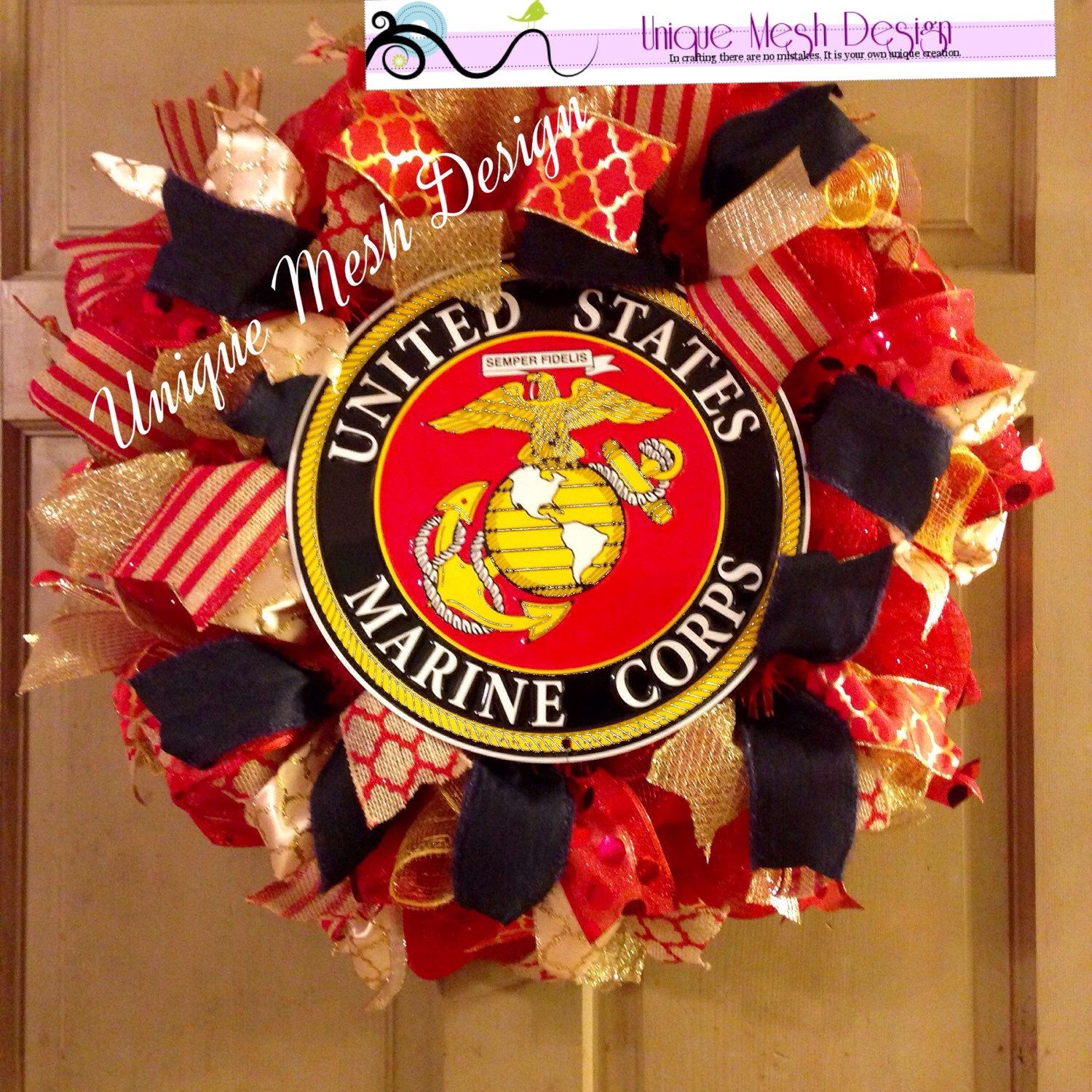 Marine Wreath, Military Wreath, Father's Day Gift