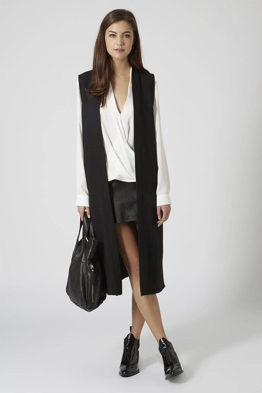 Sleeveless Crepe Duster - Jackets & Coats - Clothing | Dusters ...
