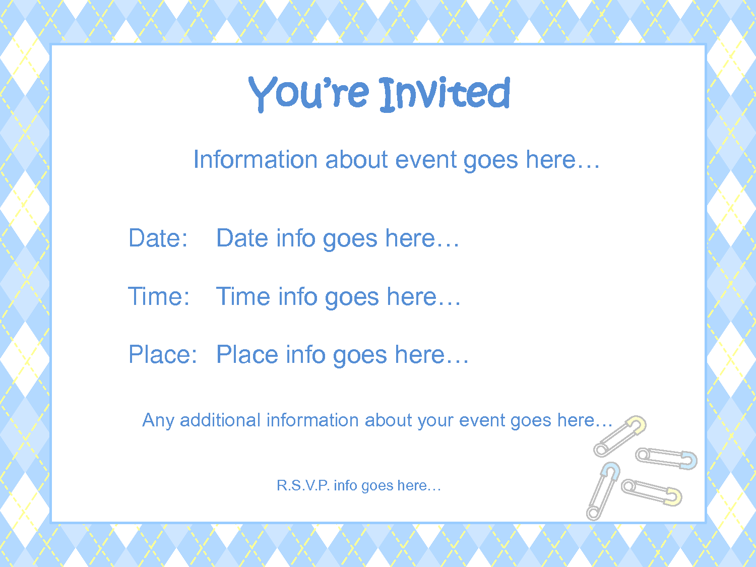 17 Best images about Stunning Free Printable Baby Shower – Invitations Templates