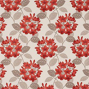 Maggie Levien For John Lewis Titania Floral Fabric Red Floral Fabric Wallpaper Floral Print Fabric
