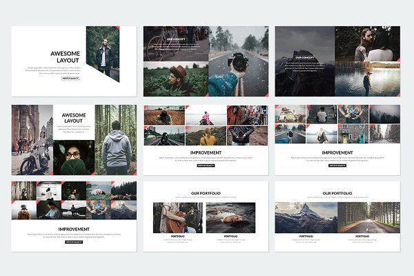 Elegant Powerpoint Template By Binangkit On Creativemarket