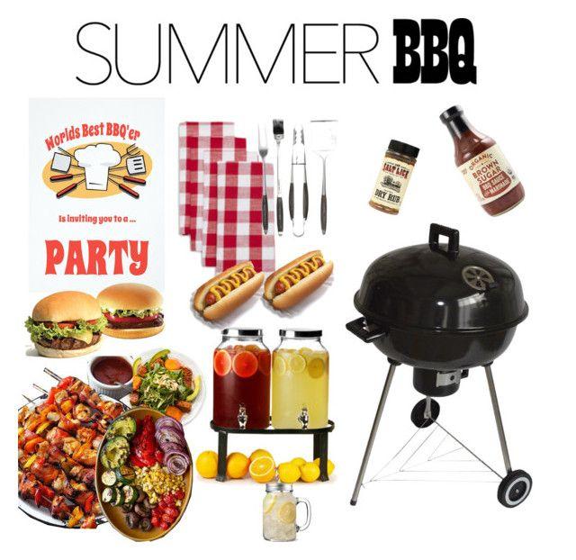 """Summer bbq"" by daniela-b-urena on Polyvore featuring interior, interiors, interior design, hogar, home decor, interior decorating, Sur La Table, Schmidt Brothers y summerbbq"