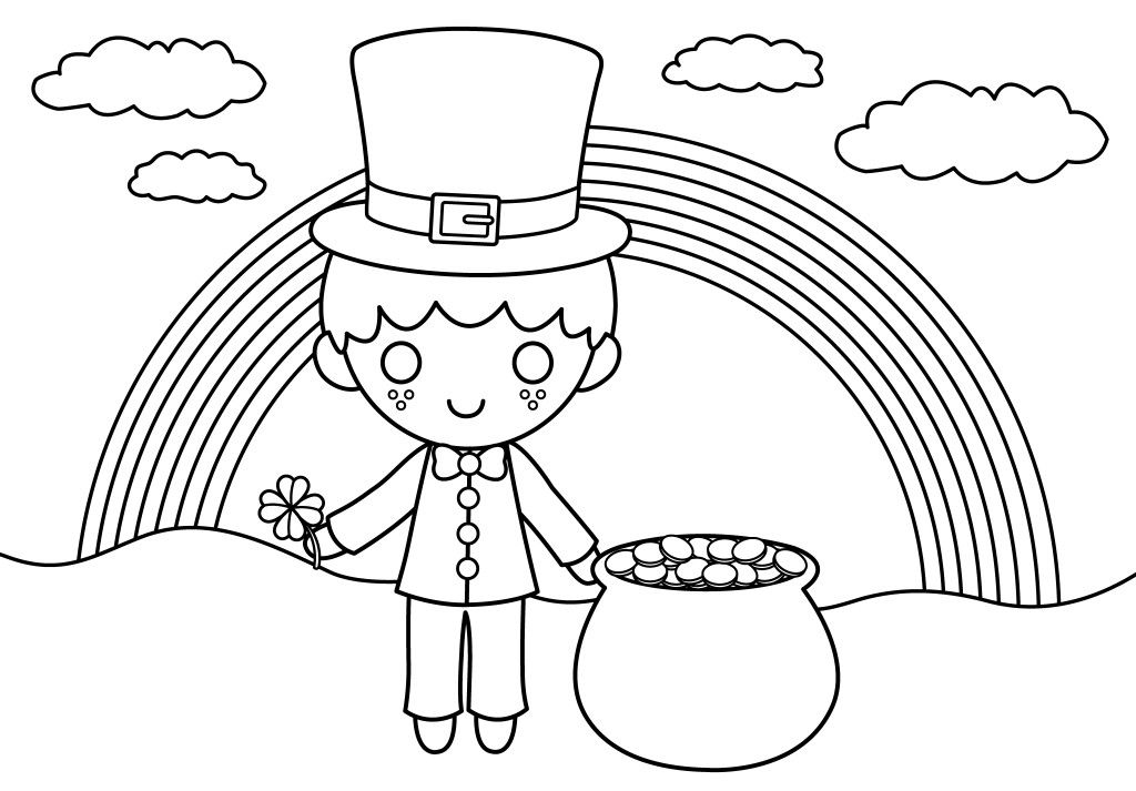 Shamrock Coloring Pages Shamrock Coloring Sheets Az ...