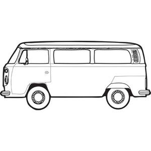 Hippie Bus Drawing Bus Drawing Vw Bus Van Drawing