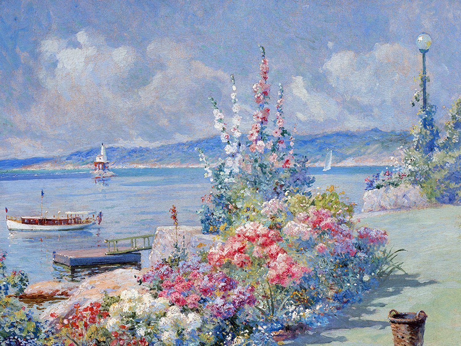 Beautiful waterfront by Abbott Fuller Graves Accent Tile Mural ...