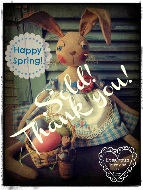 Homespun Hugs and Calico Kisses Primitives: Happy Spring!