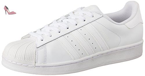more photos 7e4e1 23f4a adidas Superstar, Sneakers Basses homme, Blanc (Ftwr White Ftwr White Ftwr  White), 44 2 3 EU (10 UK) - Chaussures adidas ( Partner-Link)
