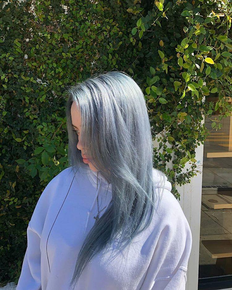 Billie Eilish Silver Hair Hair In 2019 Billie Eilish Hair