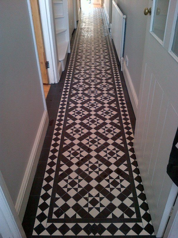 Maybe this for the hallway carron floor grouted 2 jpg for Tiled hallway floor ideas