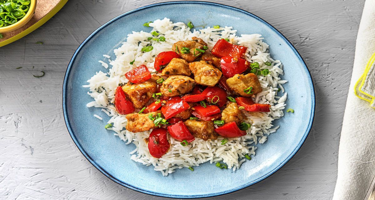 Sweet and Sour Pork with Bell Peppers and Jasmine Rice ...