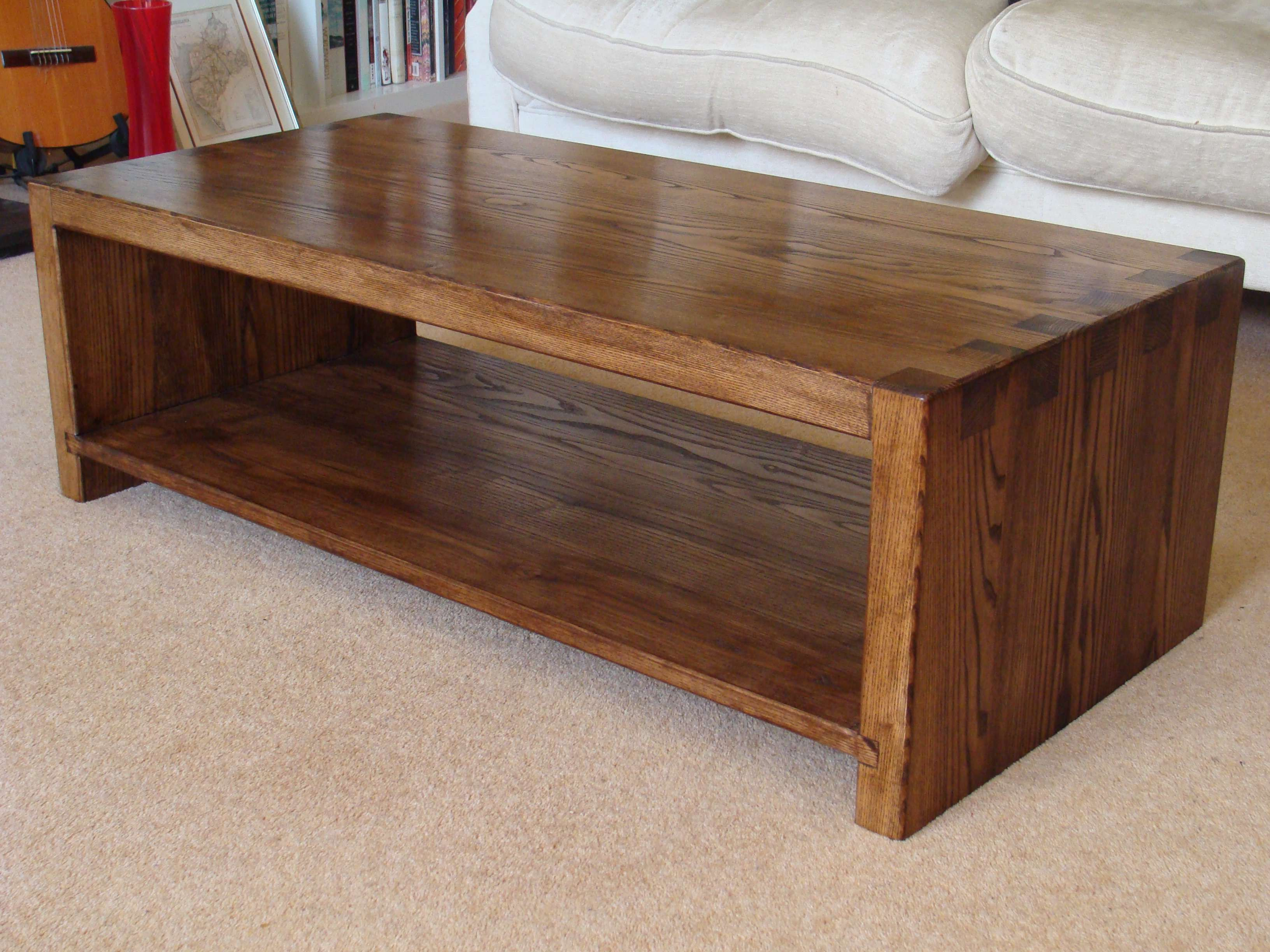 Bespoke Chunky Solid Ash Coffee Table Coffee Table Diy Coffee