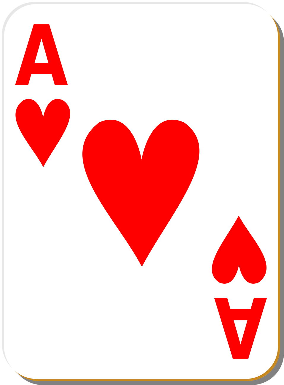 ace heart playing card clip art [ 958 x 1300 Pixel ]