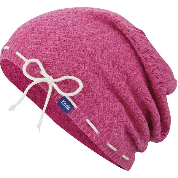 Keds Solid Slouch Beanie ($25) ❤ liked on Polyvore featuring accessories, hats, slouch hat, slouchy beanie hat, acrylic hat, slouchy hat and keds