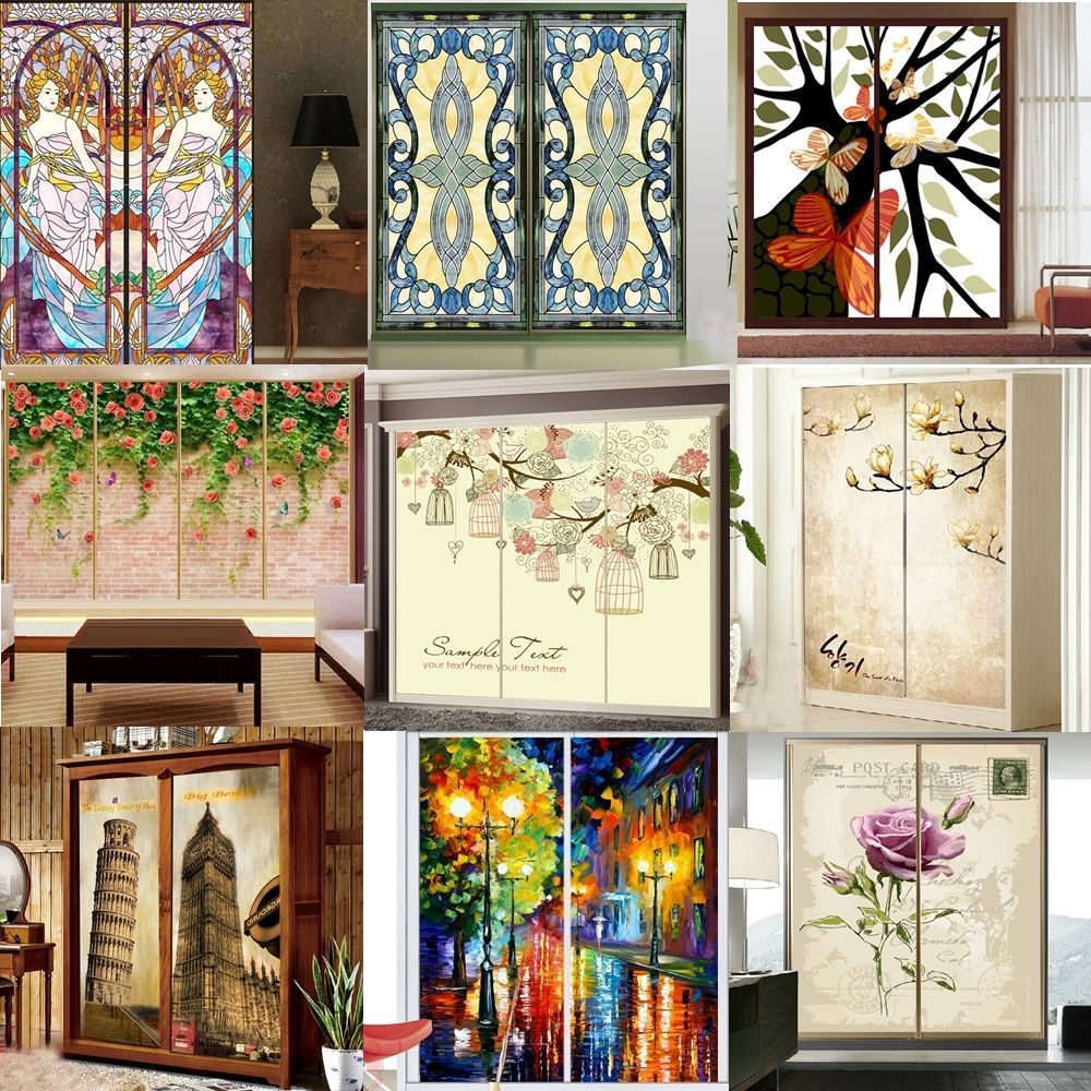 Personalized Self Adhesive Pvc Wallpaper Window Glass Film Closet Door Sticker Gallery Wall House Inspiration Wall