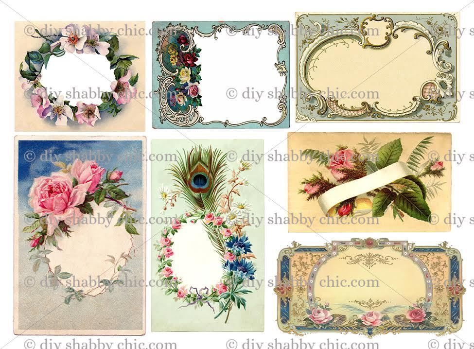 Details about Furniture Glass Decal Image Transfer Vintage