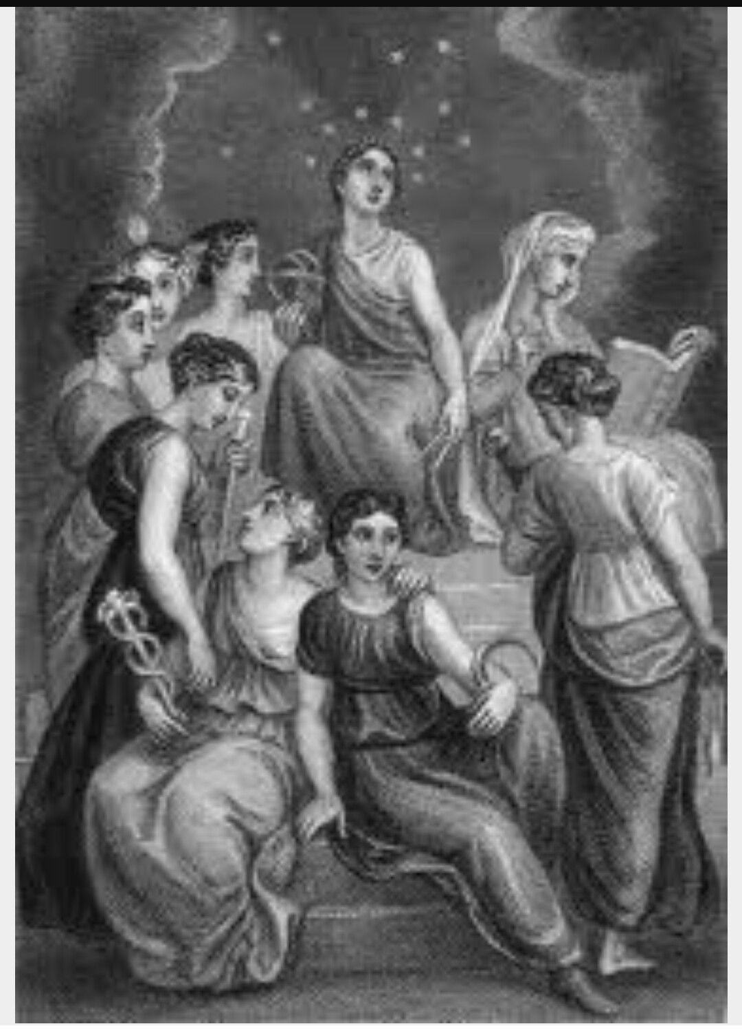 nine goddesses greek mythology