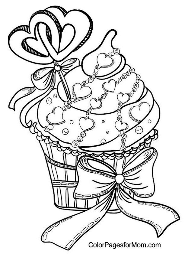 Hearts Coloring Page 9   Coloring  Pinterest  Adult coloring