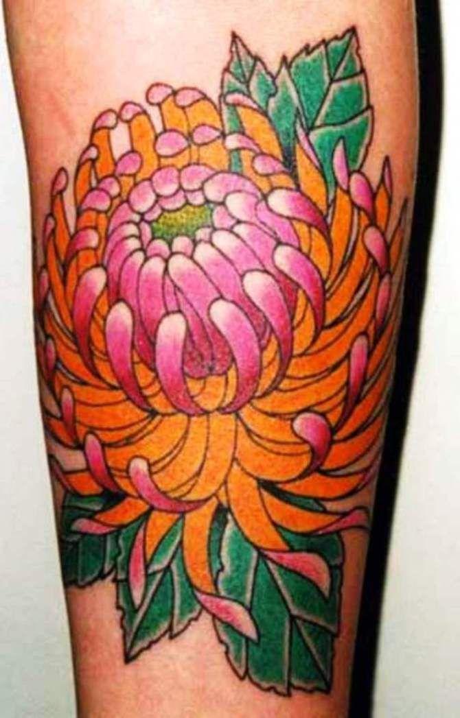 Chrysanthemum Tattoos Chrysanthemum Tattoo Japanese Flower Tattoo Pink Flower Tattoos