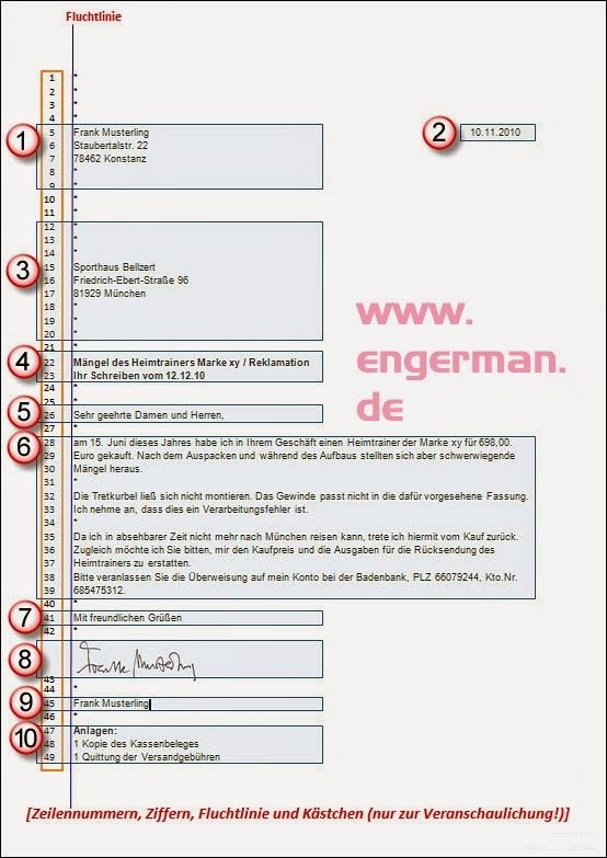 Formeller Brief Schreiben German Letters German Grammar Brief