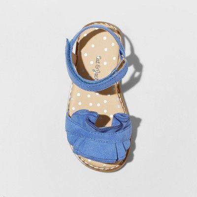 e1057f47d Toddler Girls  Camilla Slide Sandals - Cat   Jack Blue 10