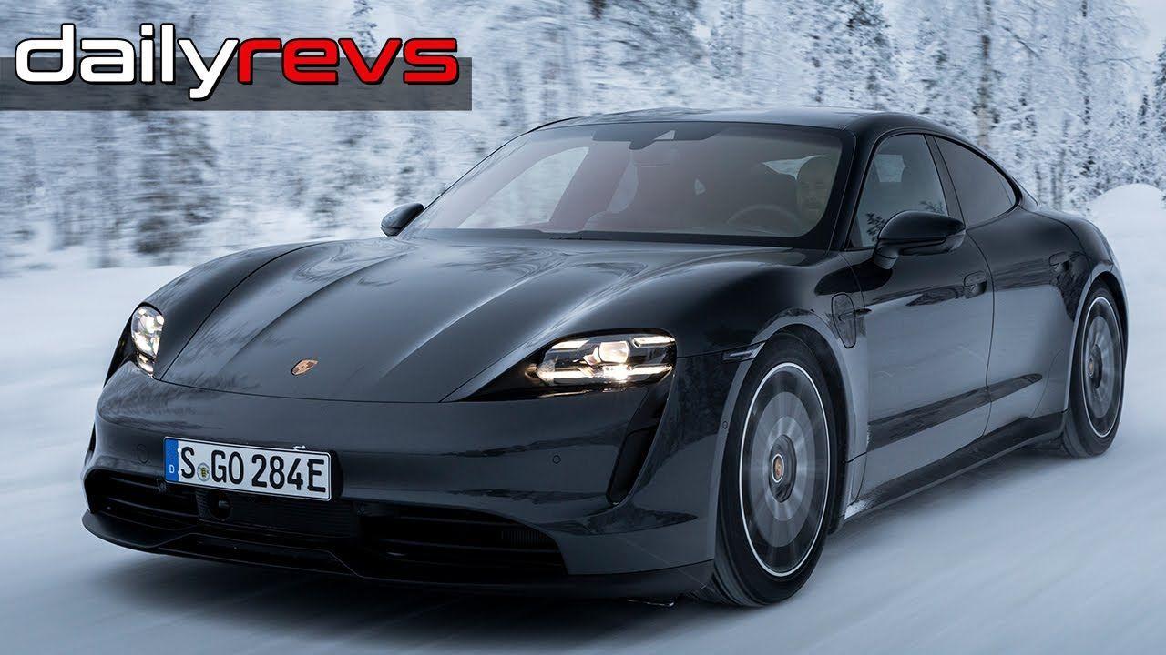2020 Porsche Taycan 4s Volcanic Grey Metallic Driving