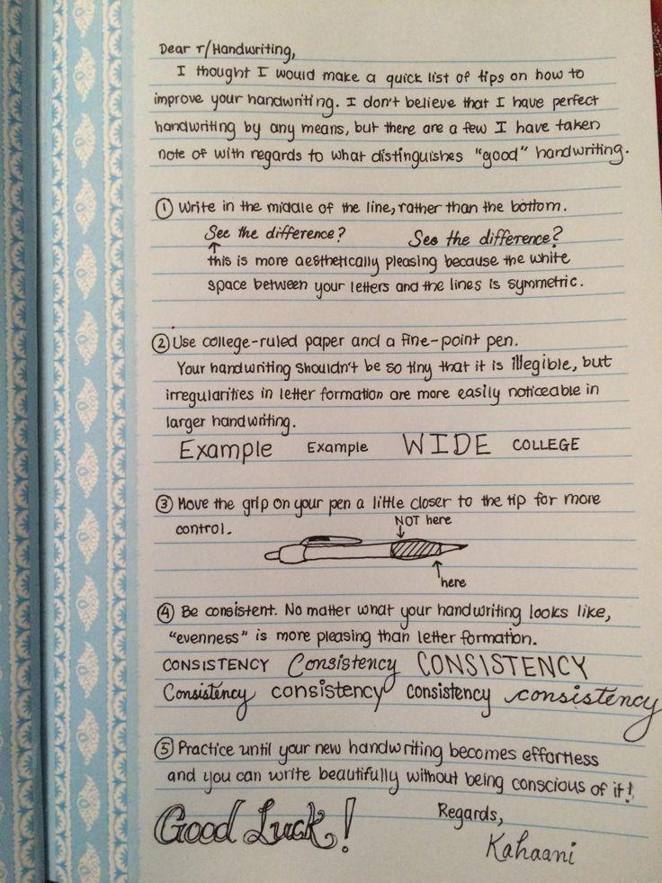 Schnelle Tipps zur Verbesserung der Handschrift Schnelle Tipps zur  Schnelle Tipps zur Verbesserung der Handschrift Schnelle Tipps zur  Apuntes Bonitos