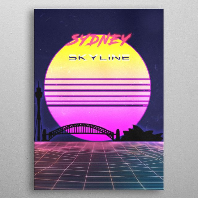 SYDNEY by FARKI15 DESIGN   metal posters - Displate   Displate thumbnail