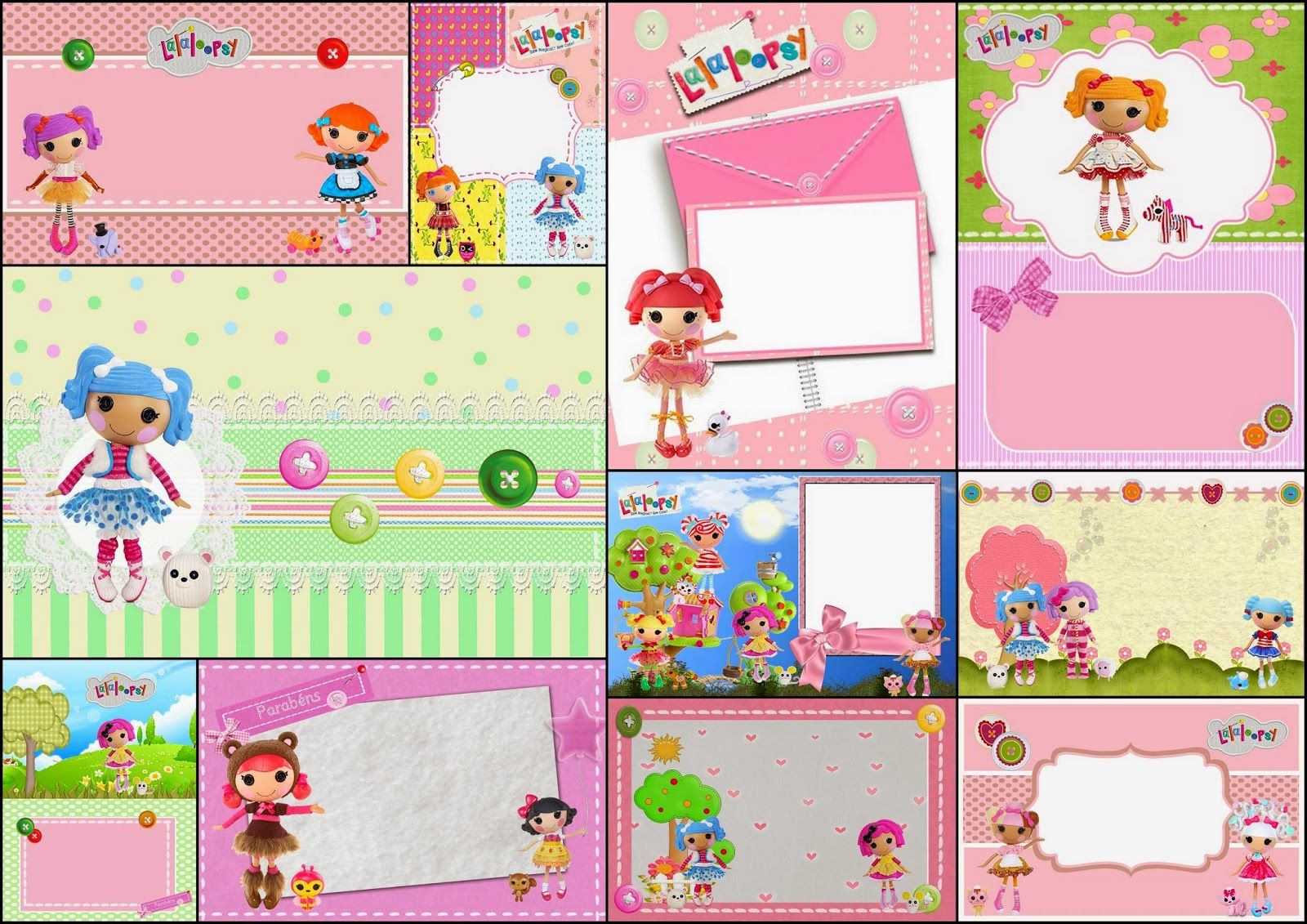 Lalaloopsy: Free Printable Invitations, Labels or Cards ...