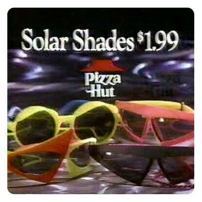 7429f19ca6 1989 Pizza Hut Toy - Back to the Future 2 Solar Shades. I was given the  red yellow sunglasses from my uncle back then