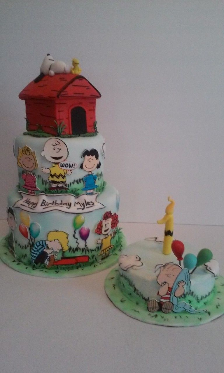 Snoopy Birthday Cake made by Dazzling Sweets Peanuts Charlie Brown