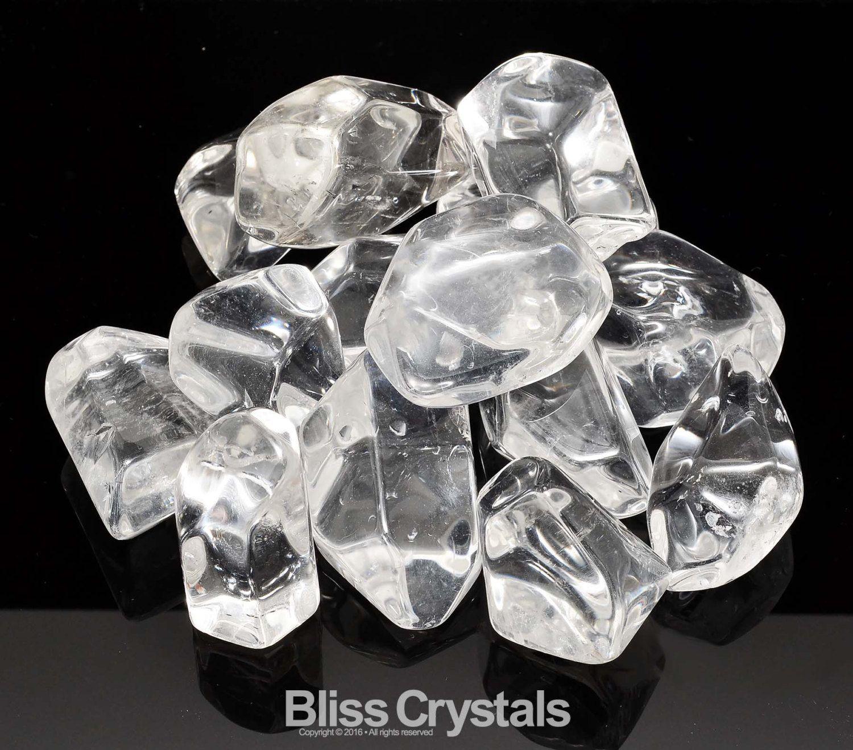 1 glace jumbo QUARTZ clair poli forme libre par BlissCrystals