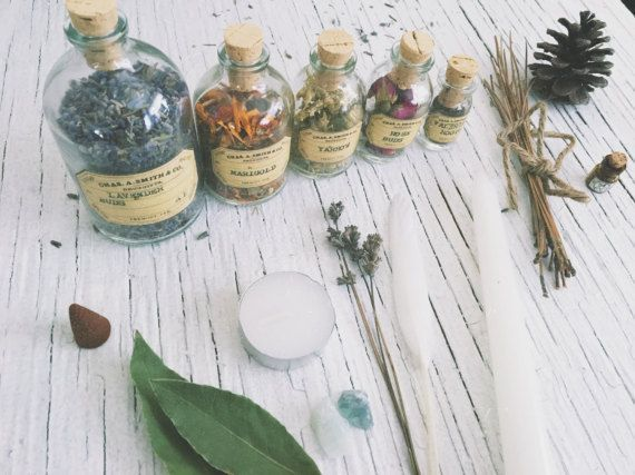 Herbalist set [ Apothecary set ] Green Witch kit / Botanical-Witchcraft-Wicca-Pagan-Lavender-Marigold-Yarrow-Rose-Valerian-sage-ritual-deco#apothecary #botanicalwitchcraftwiccapaganlavendermarigoldyarrowrosevaleriansageritualdeco #green #herbalist #kit #set #witch