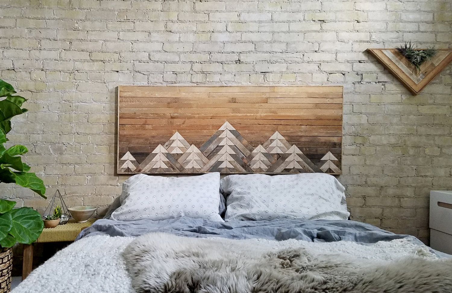 This one of a kind wall art is made from reclaimed lath wood the