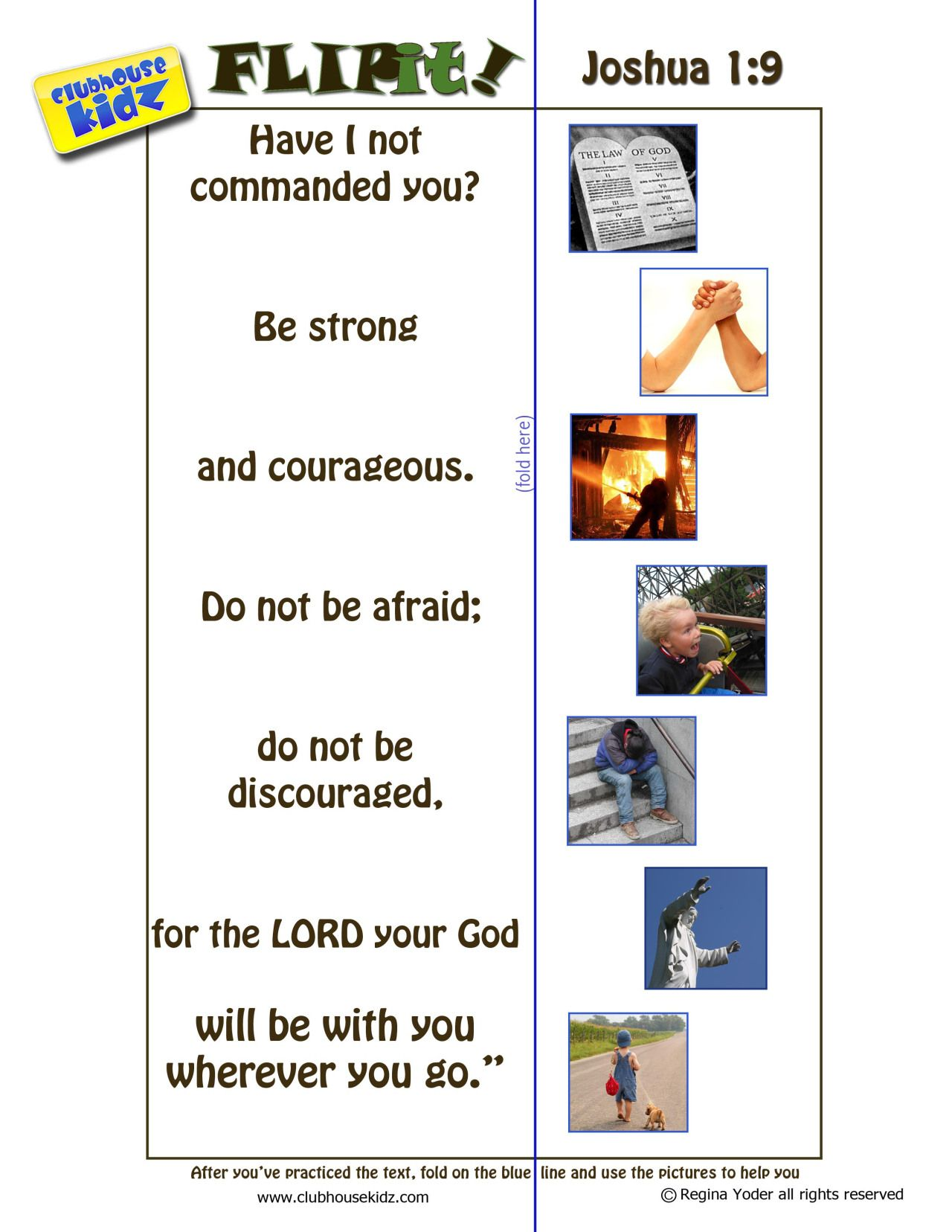 Free Download Joshua 1 9 Flipit With Images