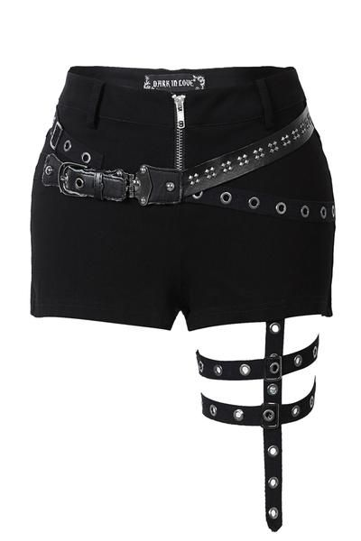 Punk rivet shorts with surround thigh design PW085