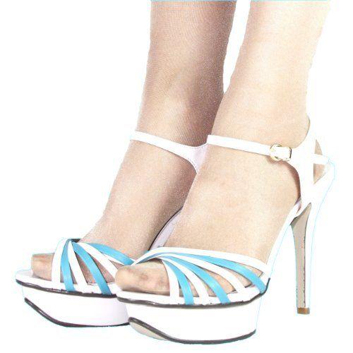 High Heels Sandalette Plateau im Italy Design 13 cm Stiletto weiß blau, http://www.amazon.de/dp/B007JVTAFE/ref=cm_sw_r_pi_awdl_.H91ub0TXP9XH
