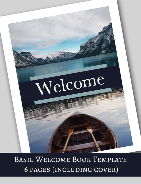 Basic Welcome Book -- 6 Page MS Word File, Vacation Home ...