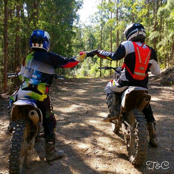 Husband and wife motorcross team