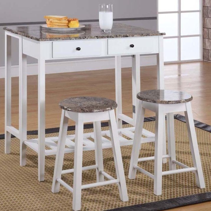 InRoom Designs Breakfast 3 Piece Dining Table Set  $206 at Wayfair