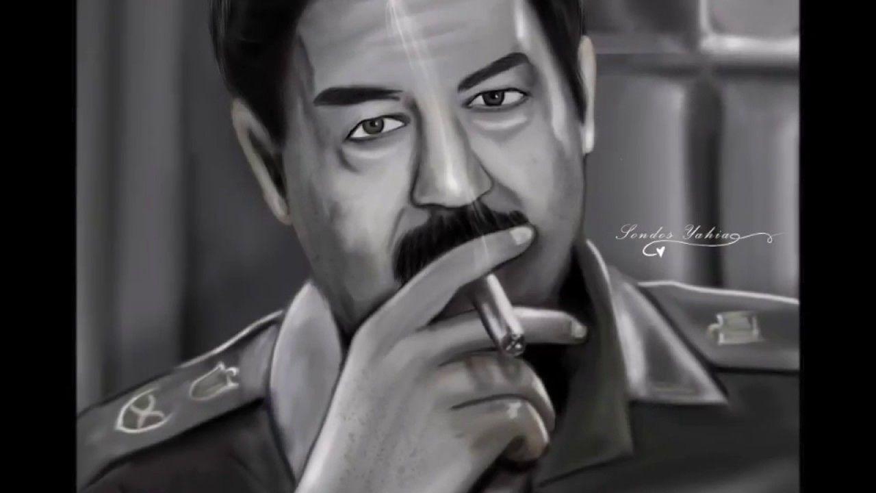 رسم ديجيتال للشهيد صدام حسين بإستخدام الفتوتوشوب Digital Painting Using Digital Art Art Digital