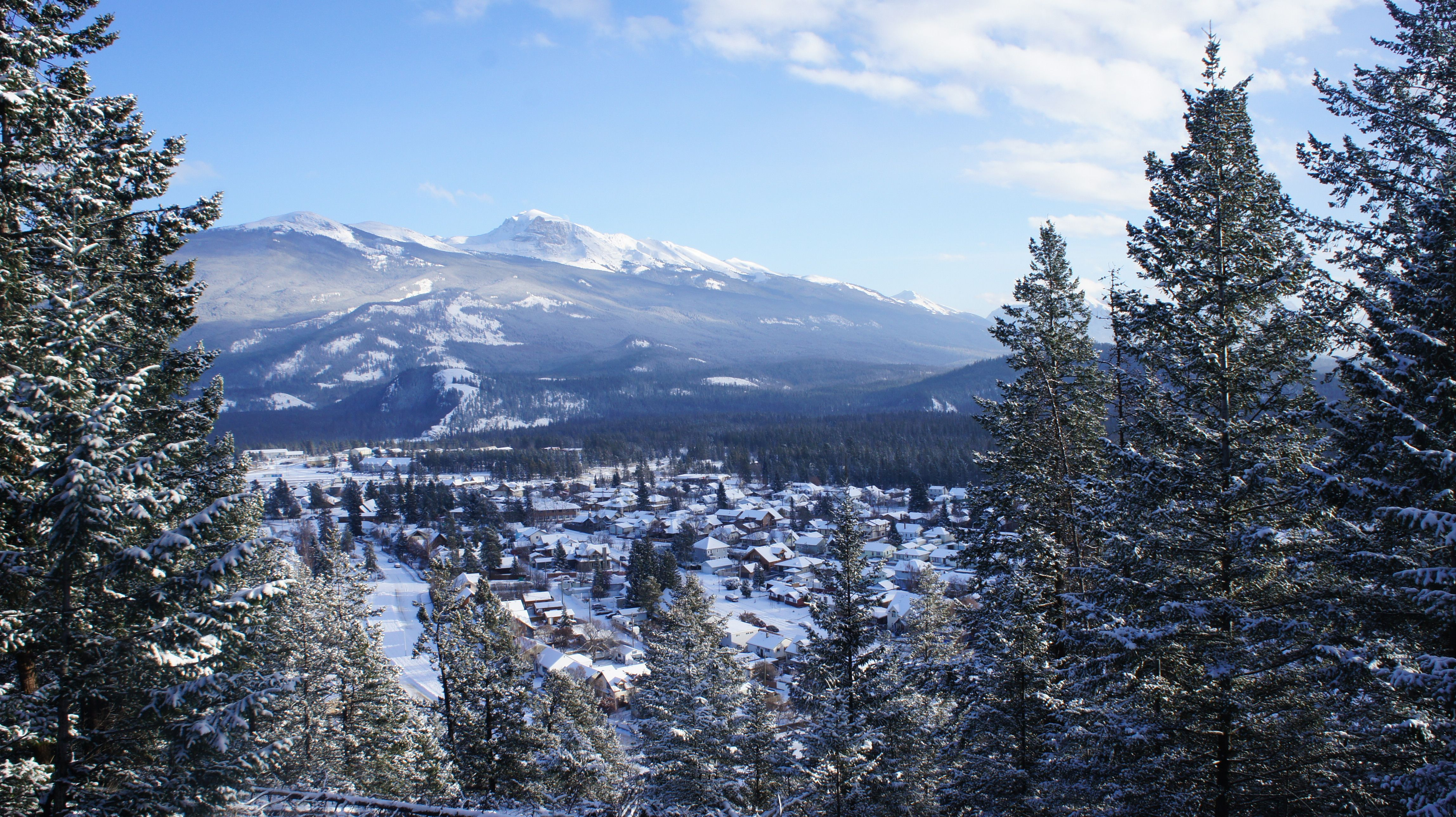 Jasper, Alberta. Beautiful town surrounded by the Rockies! Been there