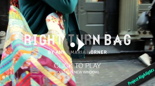 Right Turn Bag Tutorial. Janome + Anna Maria Horner | DIY | Pinterest