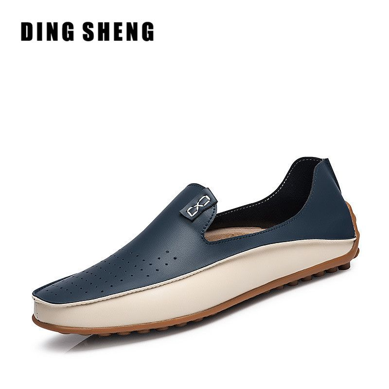 Mens Comfortable Outdoor Flats - Round Toe Breathable Casual Loafer Boat Shoe