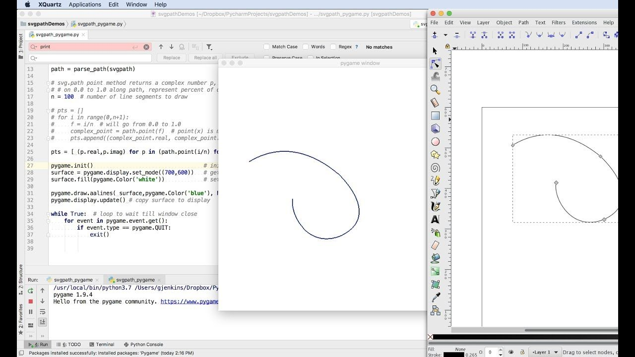 Drawing Svg Paths In Python To Pygame Programming Svg Drawings Fun Facts