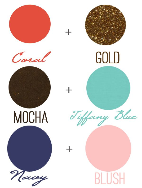 Non-Traditional (but oh-so-fabulous) color parings for Fall #Weddings!