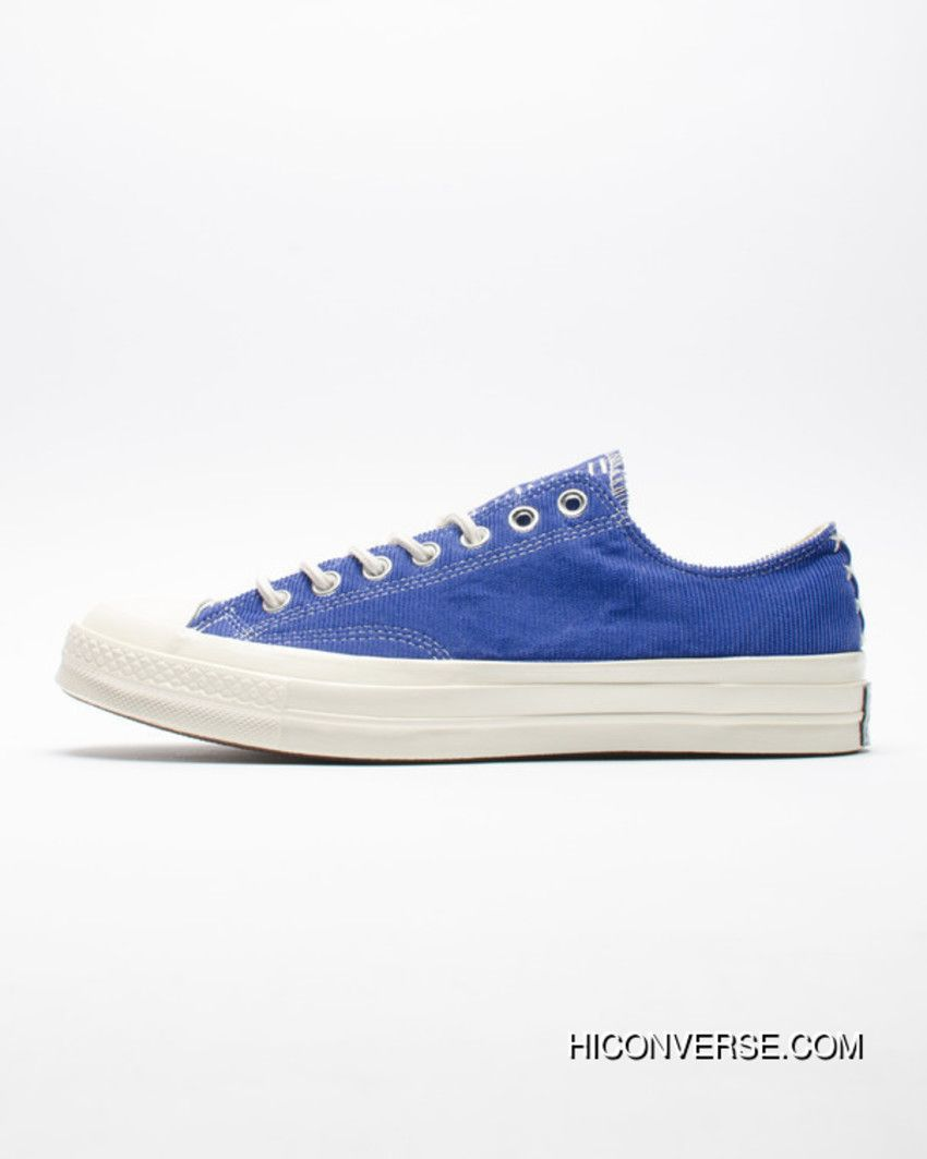12f9f4ef4804 Online French Blue Attune Simplified NBHD Converse Chuck Taylor All Star 70  OX French Workwear Low Canvas Vulcanized Sneakers Corduroy Patch Blue  158605 C
