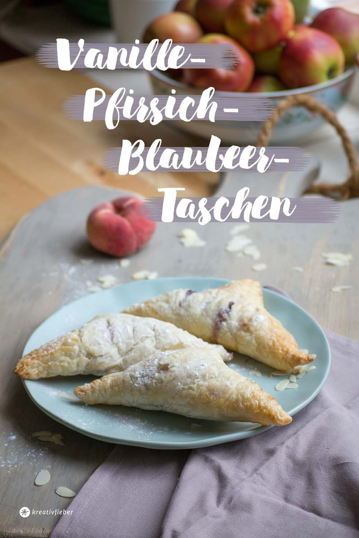 Vanille-Pfirsich-Blaubeer-Taschen